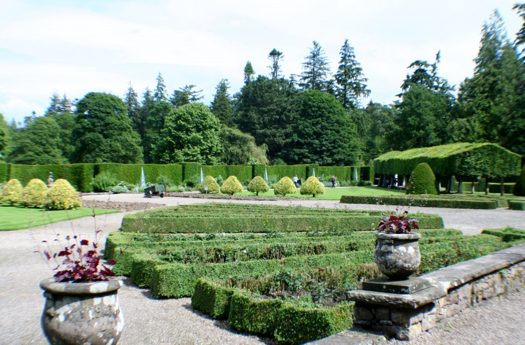 Italian Garden at Glamis Castle