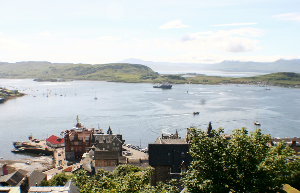 Oban Harbour from McCaig's Tower