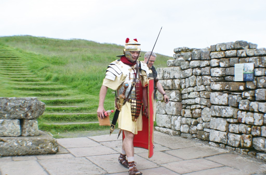 Re-enactment Roman Soldier at Housesteads