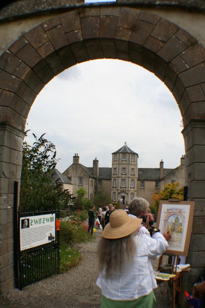 Artist at Foulis Castle